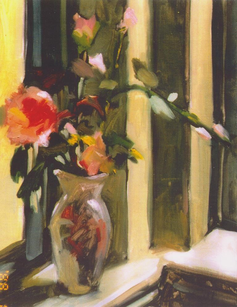 """Corner Window"" original fine art by Carole A. Ball"