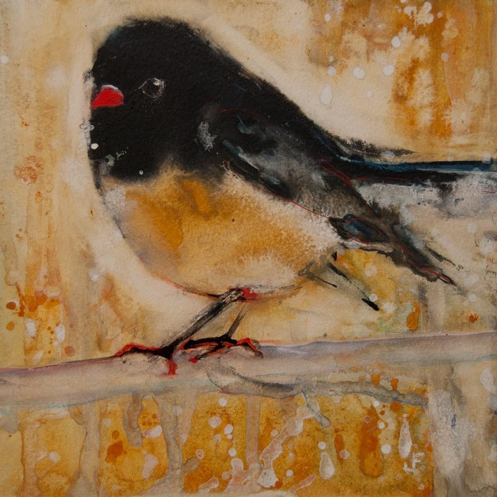 """Out On A Limb With Orange Feet"" original fine art by Jani Freimann"