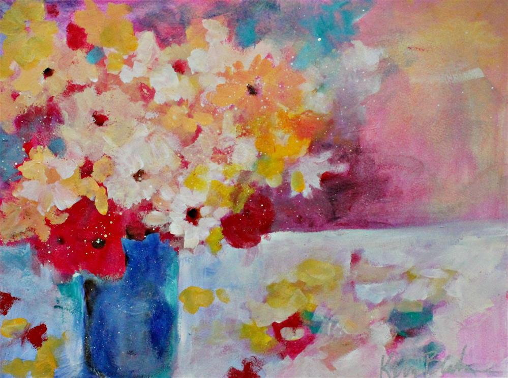"""""""Bouquet and Petals """" original fine art by Kerri Blackman"""