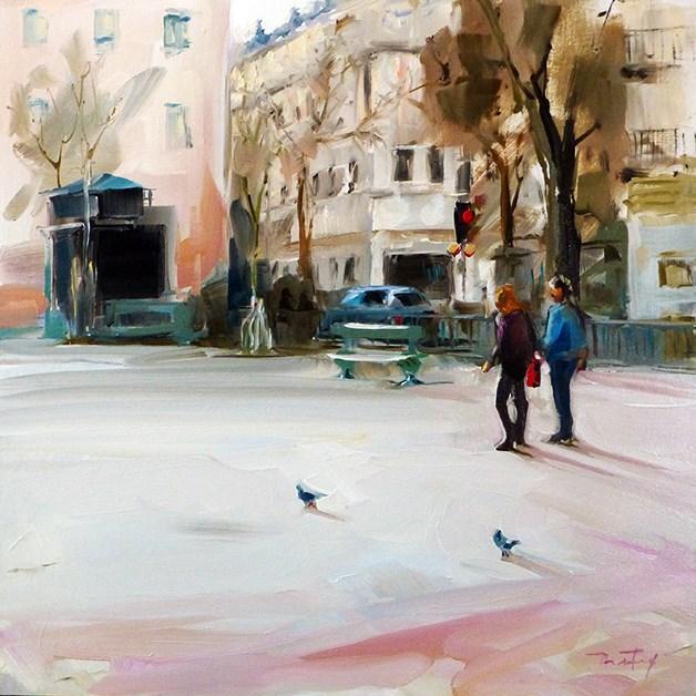 """Paris in autumn"" original fine art by Jurij Frey"
