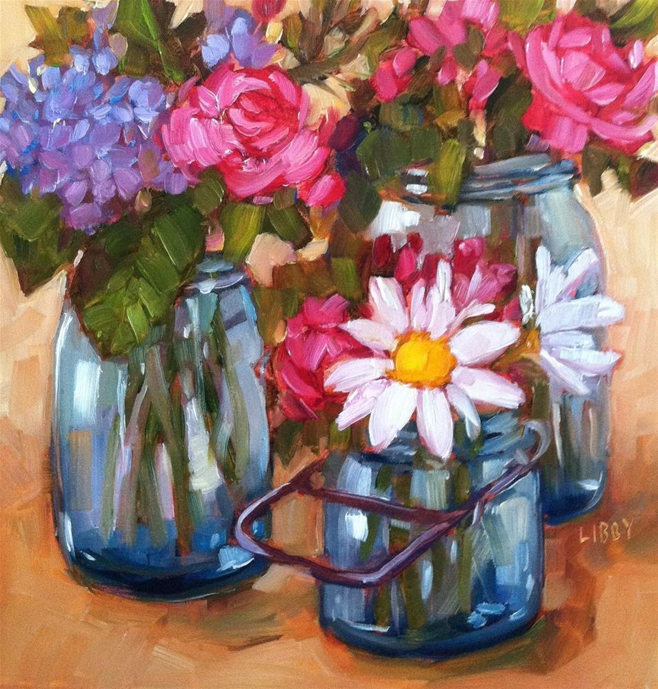 """""""Daisies"""" original fine art by Libby Anderson"""