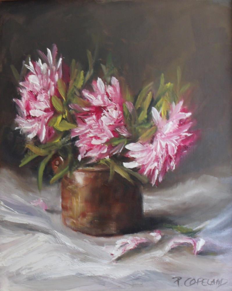 """Pottery with Pink"" original fine art by Pamela H. Copeland"