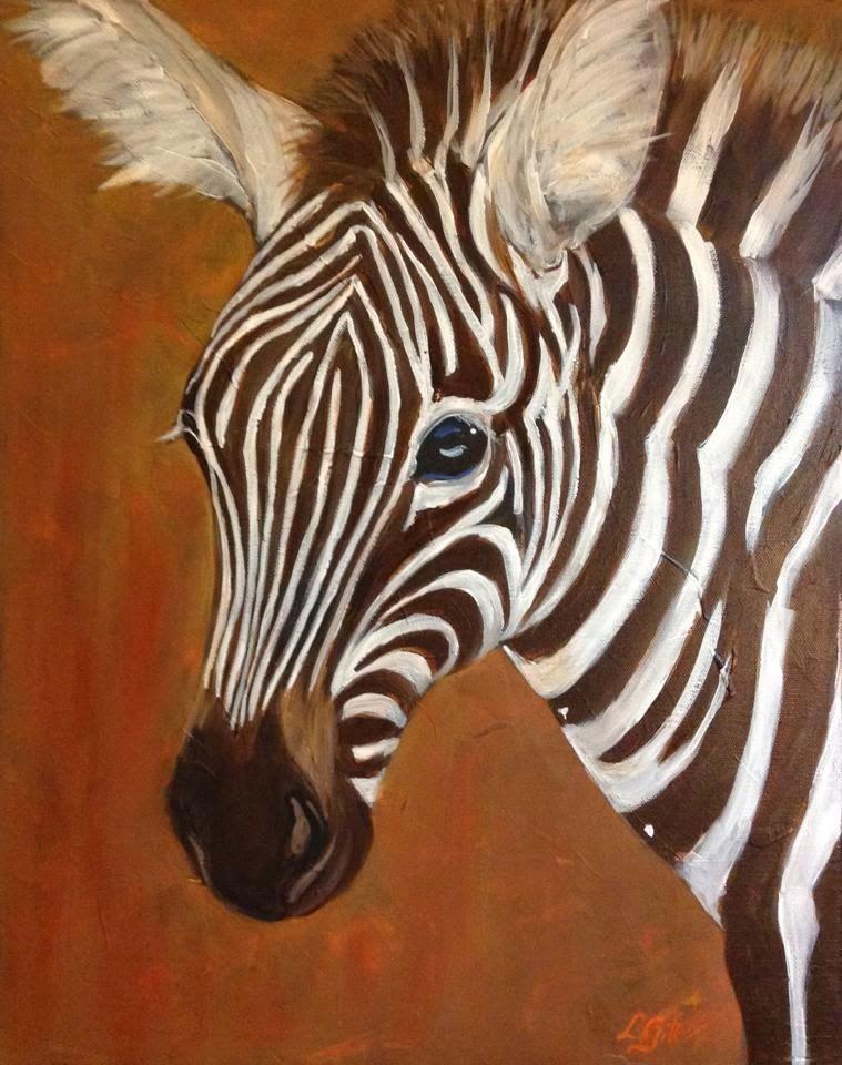 """""""Zeeeebra!"""" original fine art by Lyn Gill"""