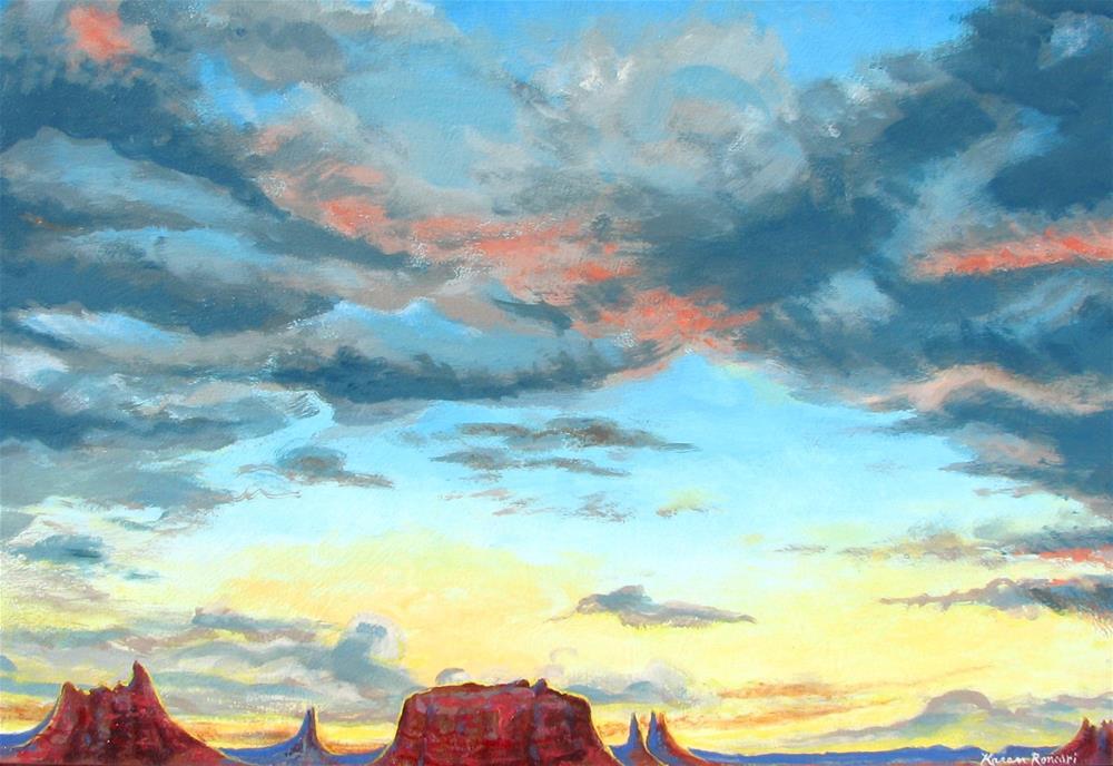 """""""Western Skies"""" original fine art by Karen Roncari"""