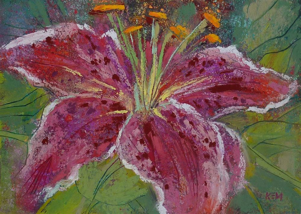 """Star Gazer Lily"" original fine art by Karen Margulis"