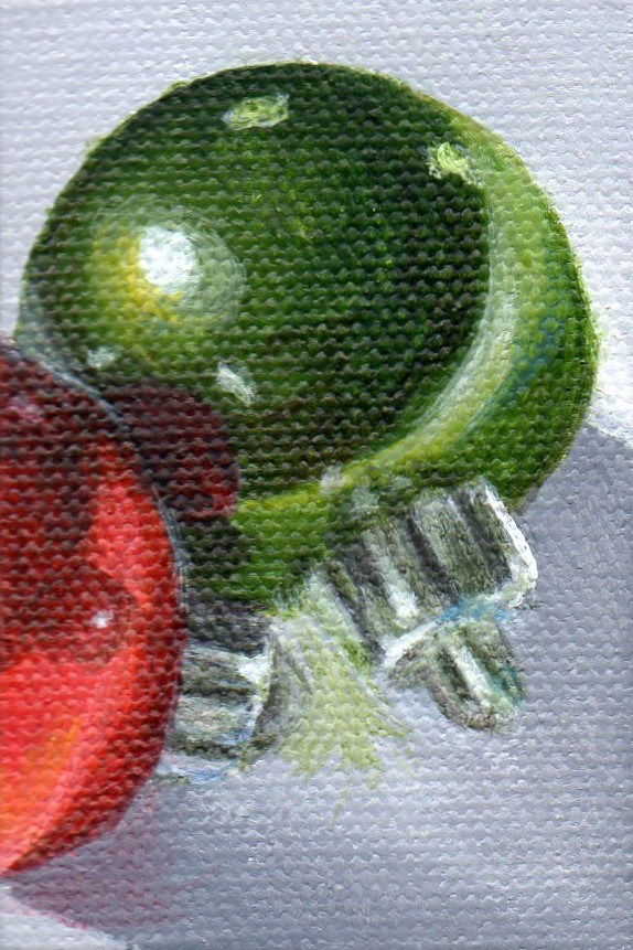 """Ornament 201202"" original fine art by Debbie Shirley"