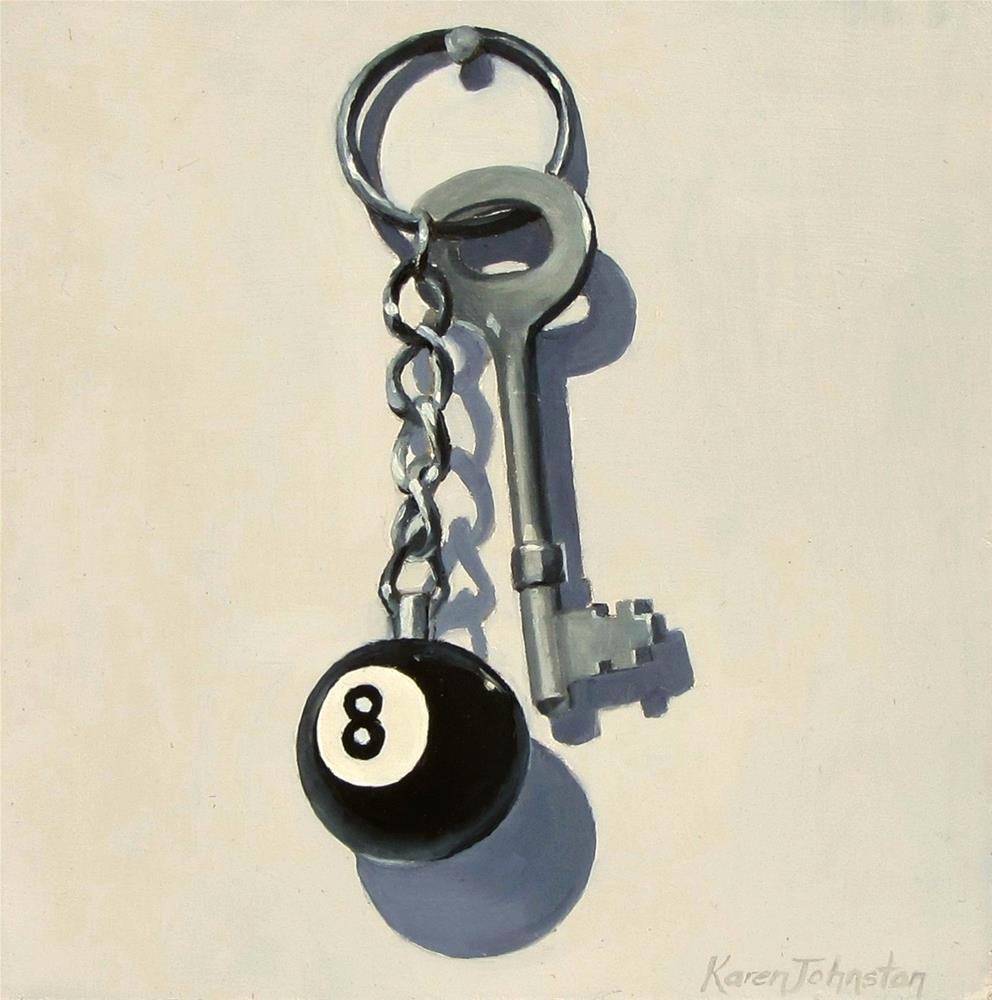 """""""Shed Key"""" original fine art by Karen Johnston"""
