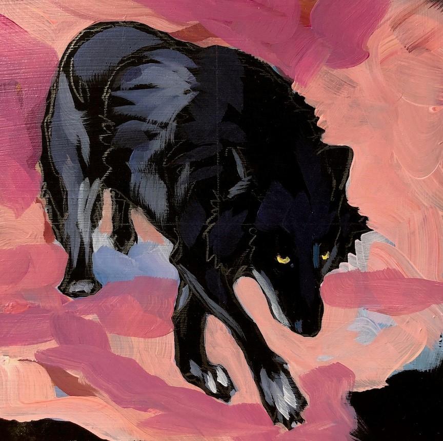 """Rose Wolf"" original fine art by Kat Corrigan"