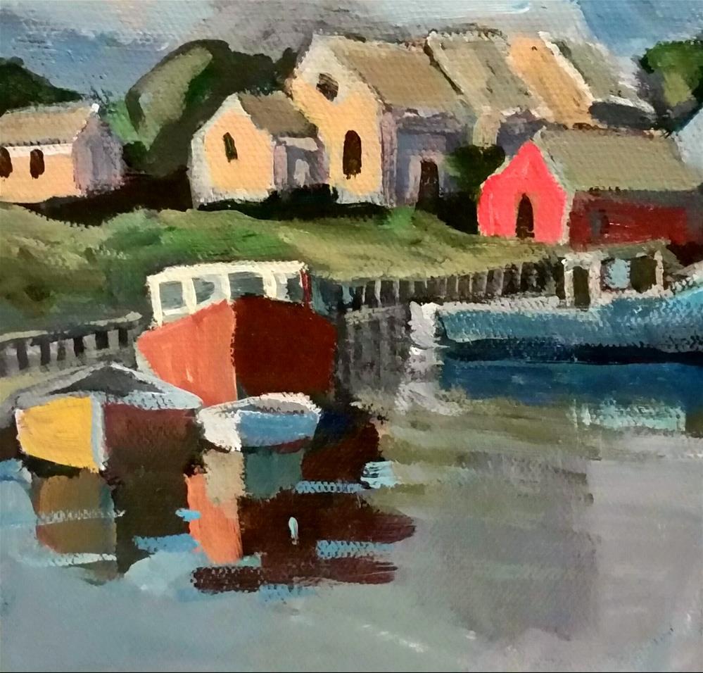 """""""Peggy's Cove"""" original fine art by Liz Maynes"""