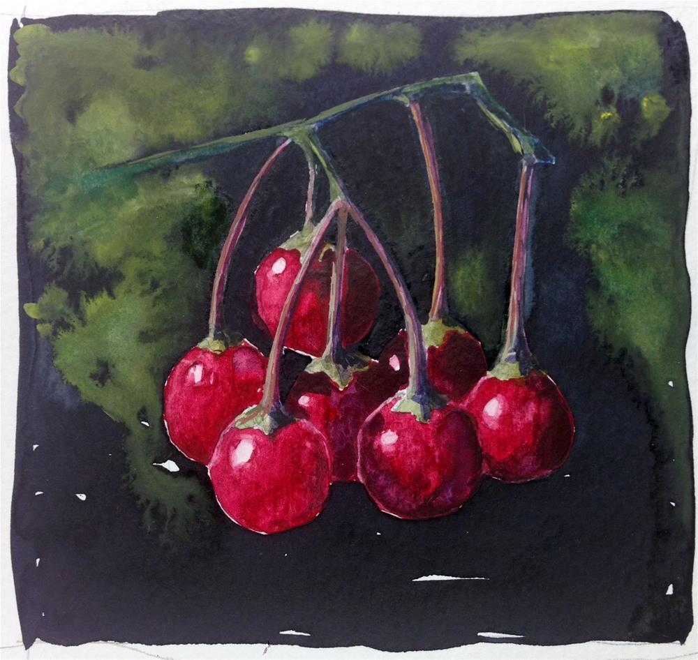 """""""Berries"""" original fine art by Eileen Hennemann"""