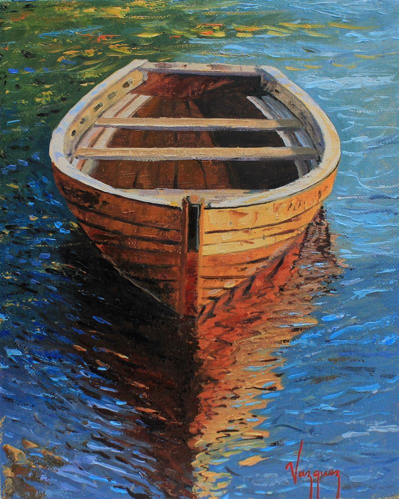 """Vibrant boat"" original fine art by Marco Vazquez"