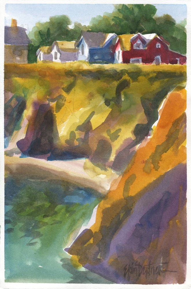 """Simply Kelly Street"" original fine art by Erin Dertner"