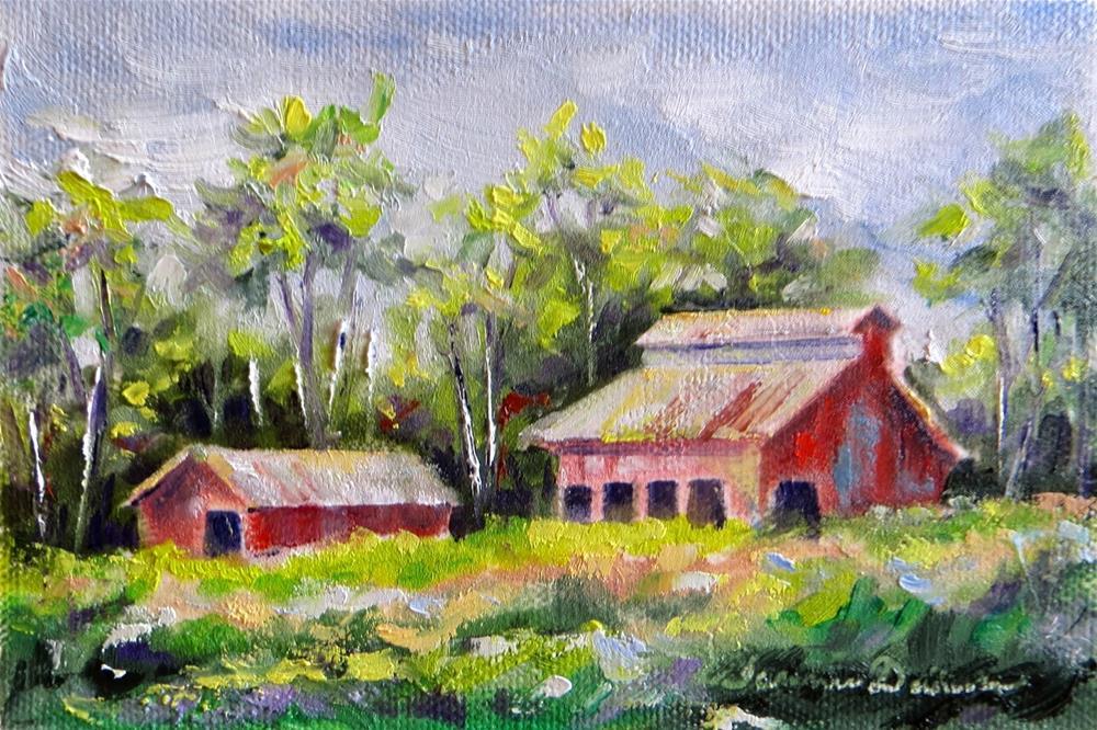 """Barns of Augusta"" original fine art by Tammie Dickerson"