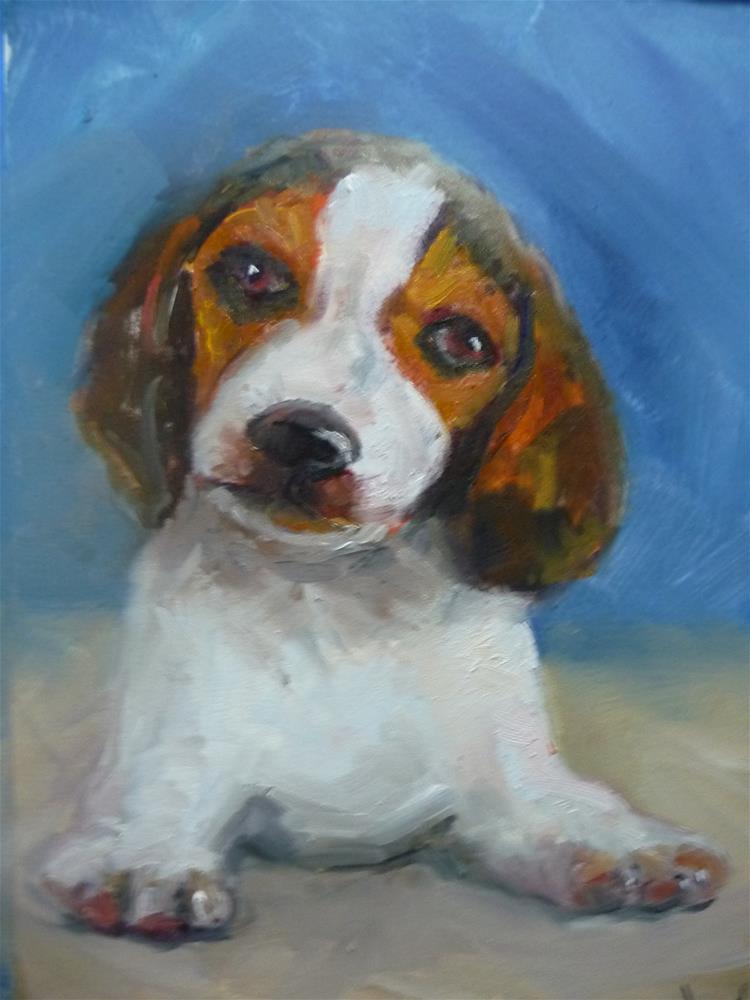 """beagle"" original fine art by Carol Josefiak"