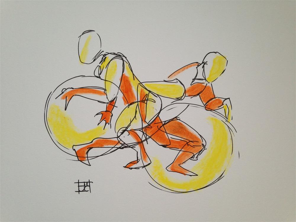 """Man moving object"" original fine art by Arron McGuire"