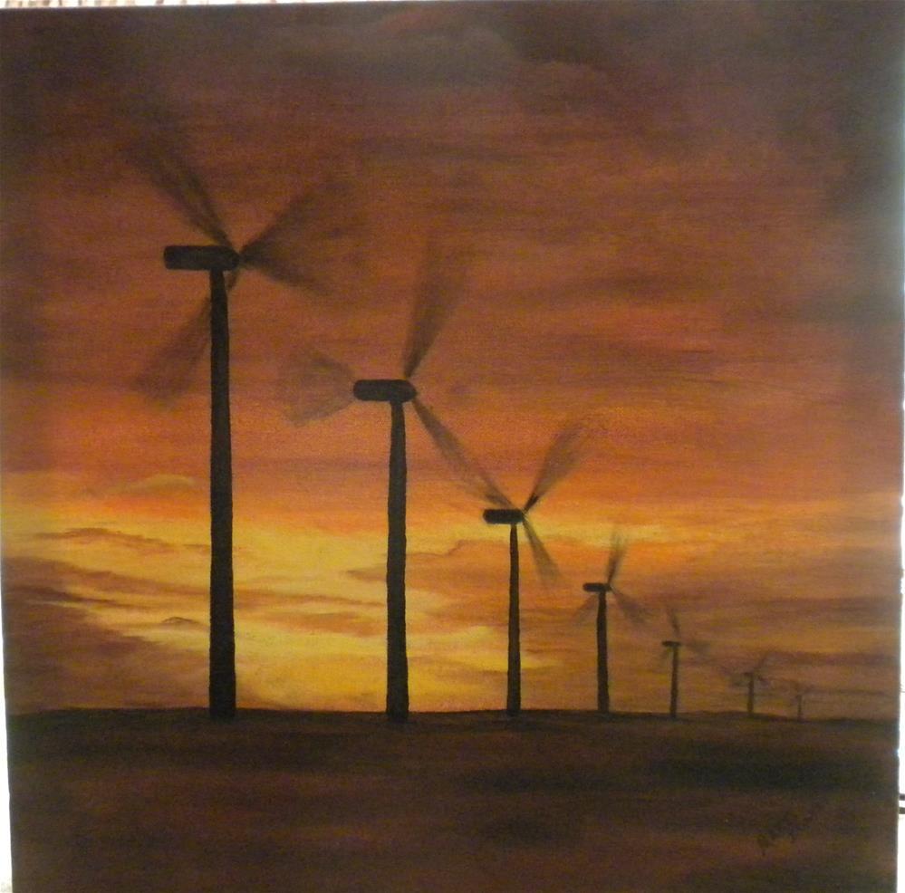 """Kansas Wind Farm"" original fine art by Marti Idlet"
