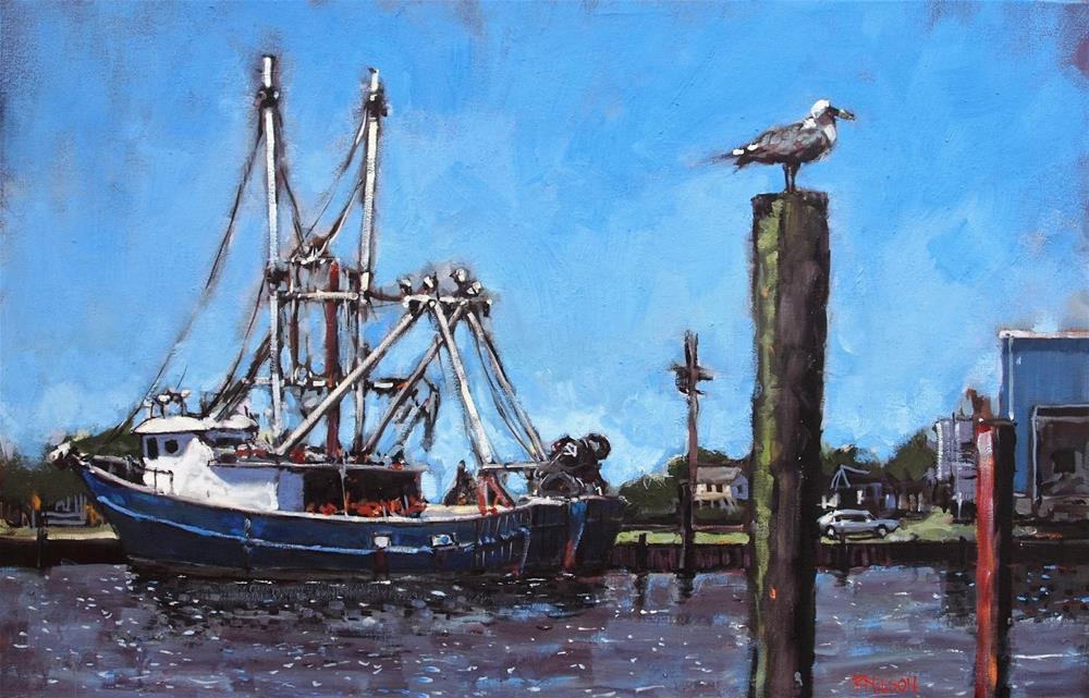 """Blue"" original fine art by Rick Nilson"