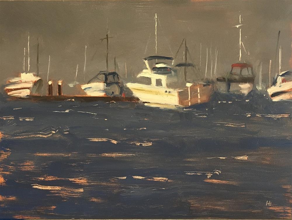 """Approaching Storm, WILLIAMSTOWN"" original fine art by Helen Cooper"