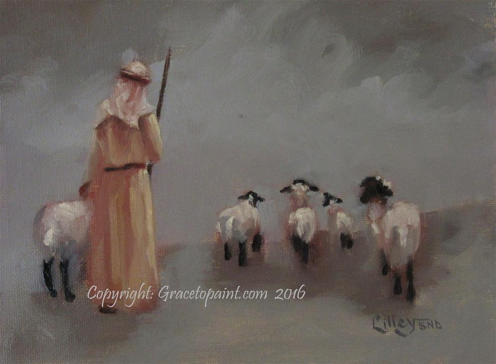 """My Shepherd, My Master"" original fine art by Maresa Lilley"