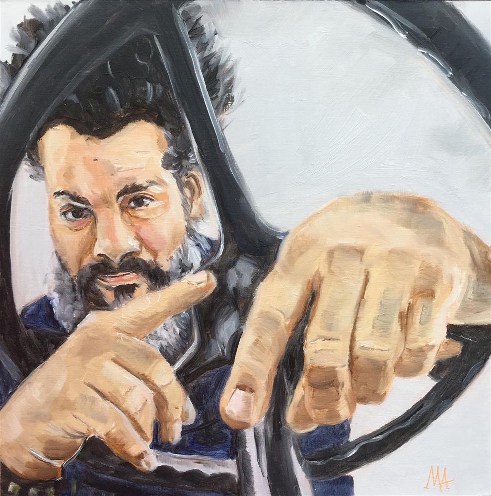 """Vincent"" original fine art by Aniko Makay"