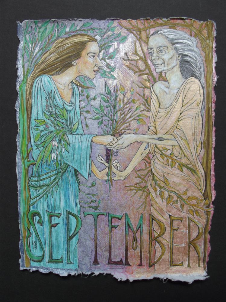"""September"" original fine art by wanda sigafus"