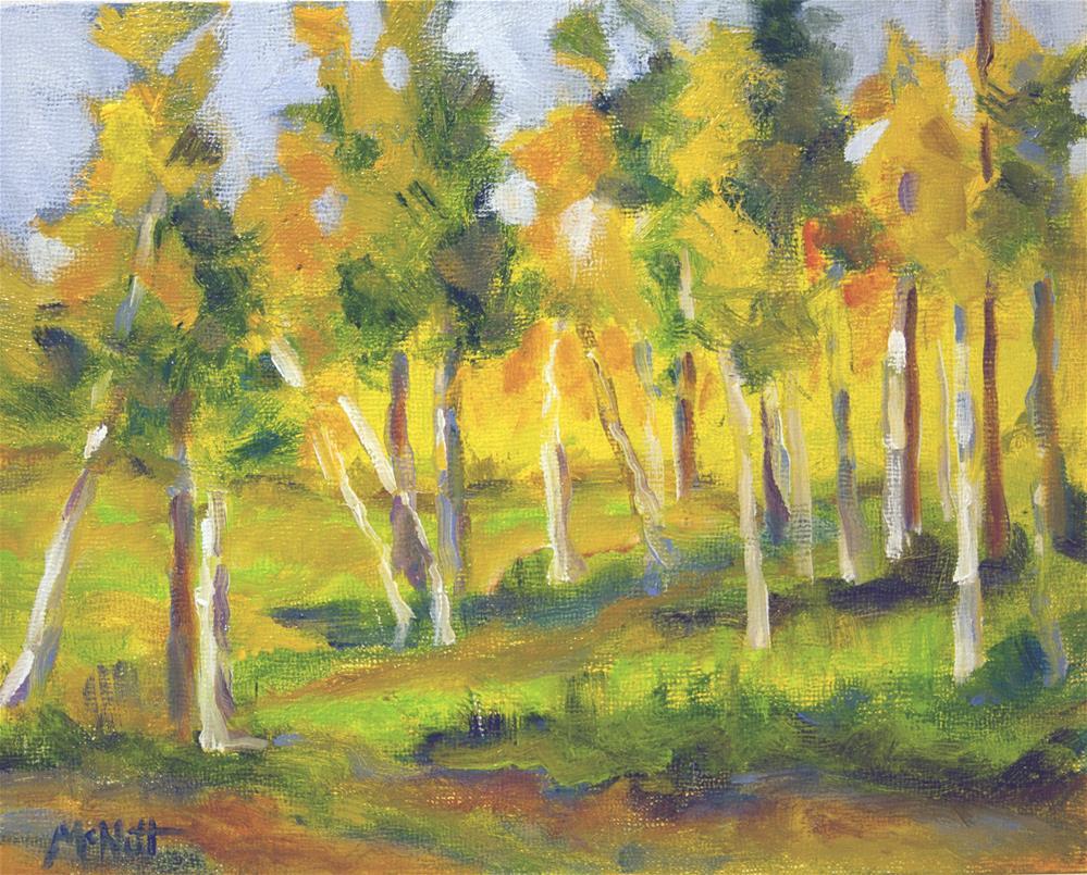 """White Birch"" original fine art by Maria McNitt"