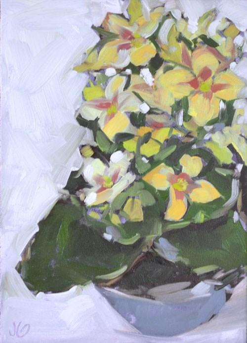 """Small flowers"" original fine art by Jessica Green"