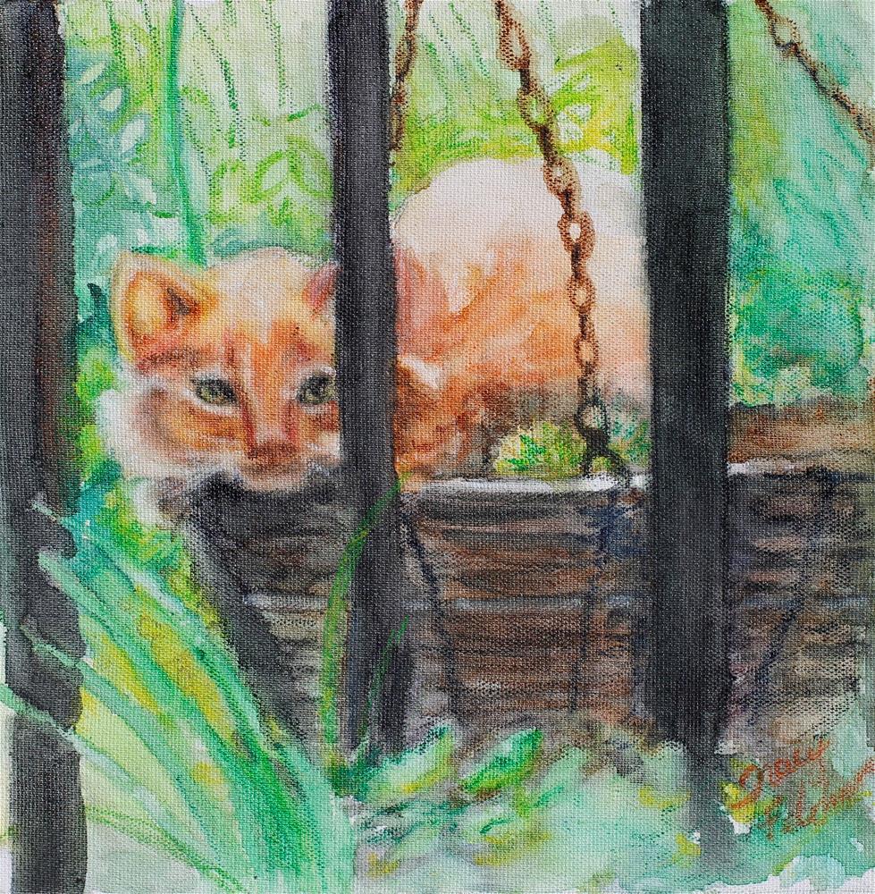 """Can you See Me?"" original fine art by Tracy Feldman"