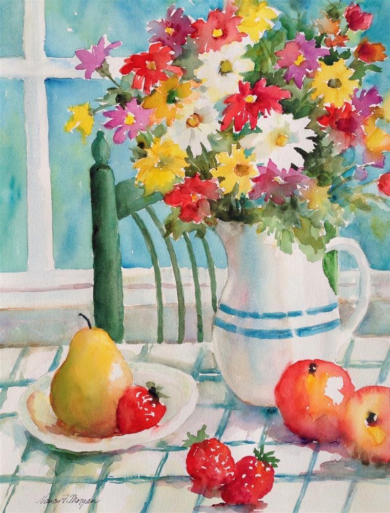 """Patty's Flowers"" original fine art by Nancy F. Morgan"