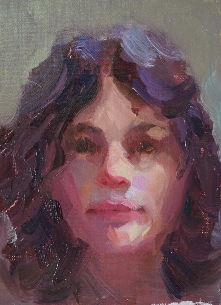 """Pamela"" original fine art by Carol Myer"
