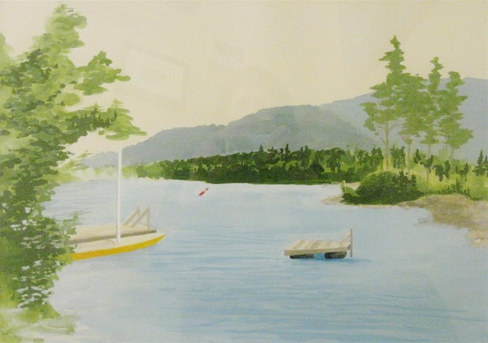 """""""Squam Lake"""" original fine art by Priscilla Bohlen"""