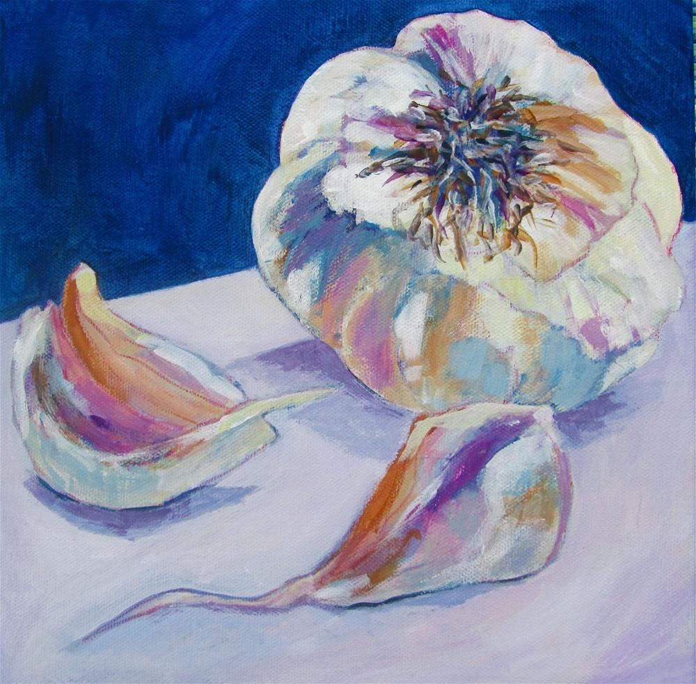 """French Garlic"" original fine art by Patricia MacDonald"