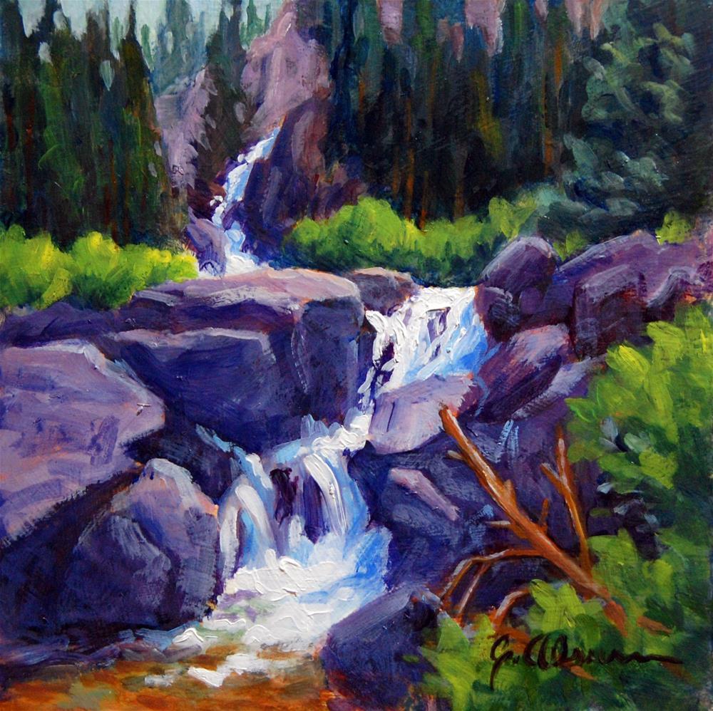 """Lower Merensia Falls"" original fine art by Gary Alsum"