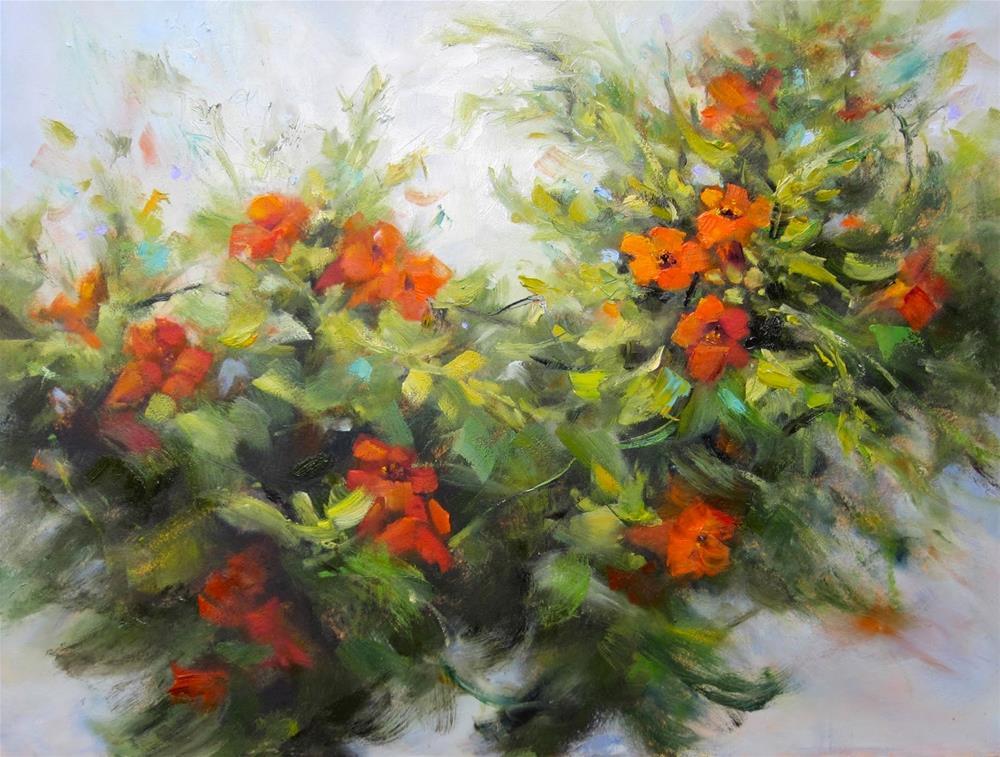"""Trumpet Joy"" original fine art by Pat Fiorello"