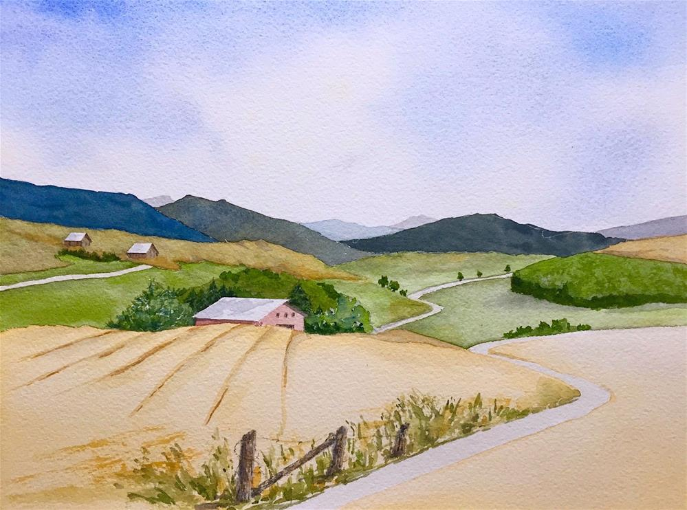 """Driving East: Salzburg to Munich"" original fine art by Judith Freeman Clark"