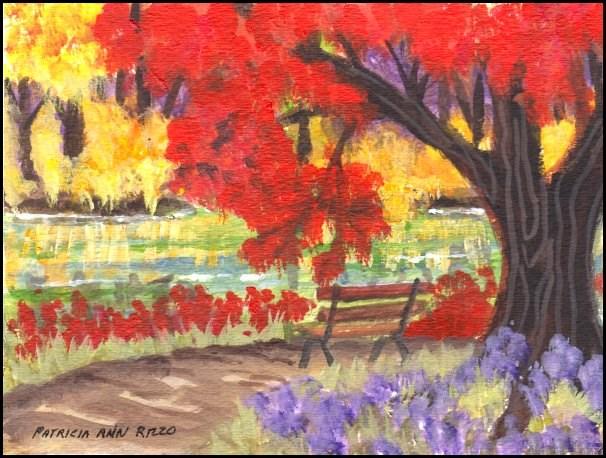 """""""Autumn Challenge"""" original fine art by Patricia Ann Rizzo"""