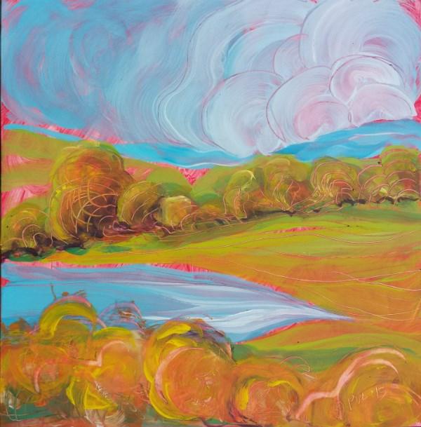 """Samaritan Drive 5 plein air landscape oil painting"" original fine art by Pam Van Londen"