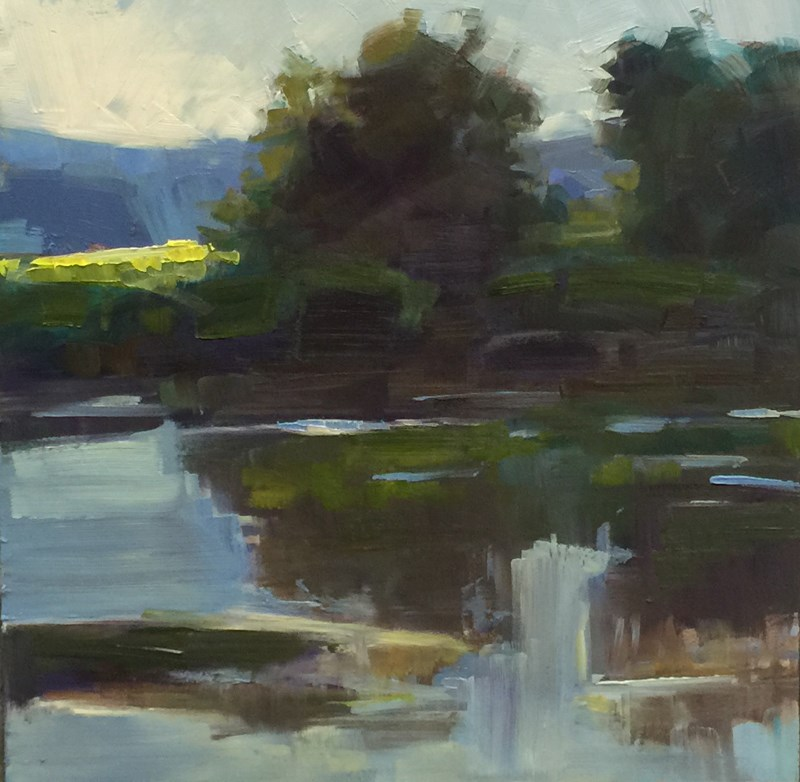 """The Wet Royal Wetlands"" original fine art by Patti McNutt"