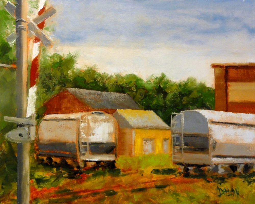 """Two Tracks Plein Air Competition Entry #2"" original fine art by Dalan Wells"