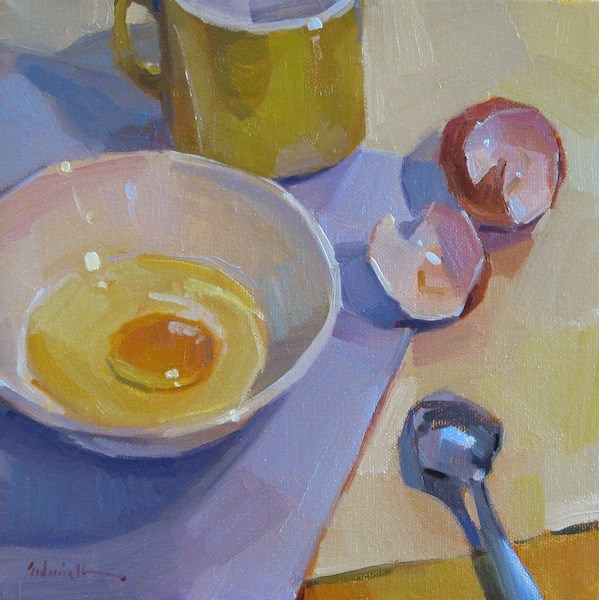"""Simple Egg"" original fine art by Sarah Sedwick"