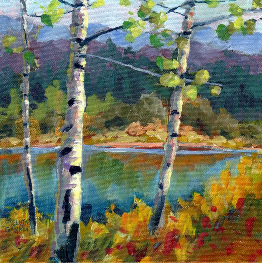 """""""A Perfect Place to Be"""" original fine art by Melissa Gannon"""