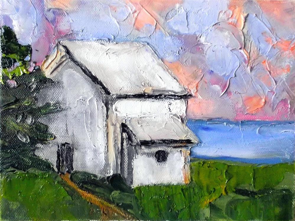 """""""Pescadero Barn"""" original fine art by lynne french"""