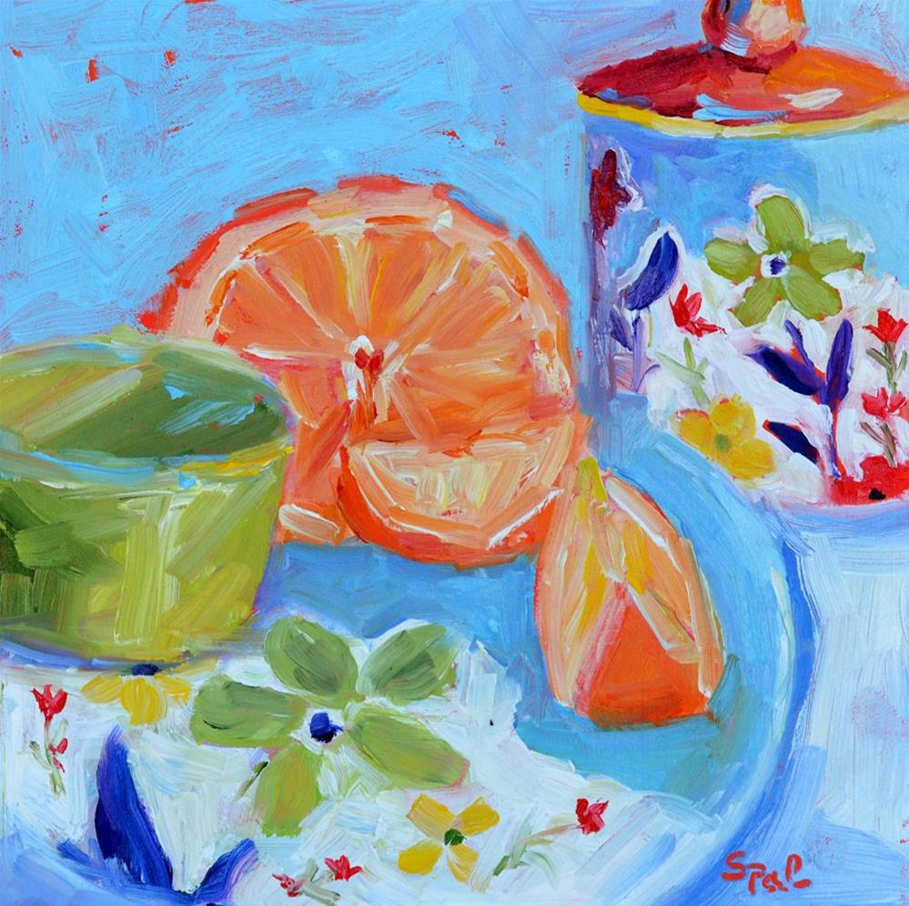 """""""Blue Dishes"""" original fine art by Suzy 'Pal' Powell"""