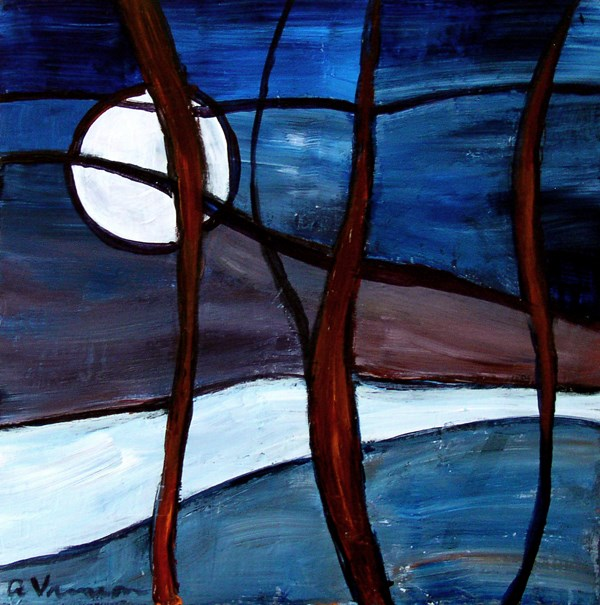 """""""The View Out The Window"""" original fine art by Anna Vreman"""