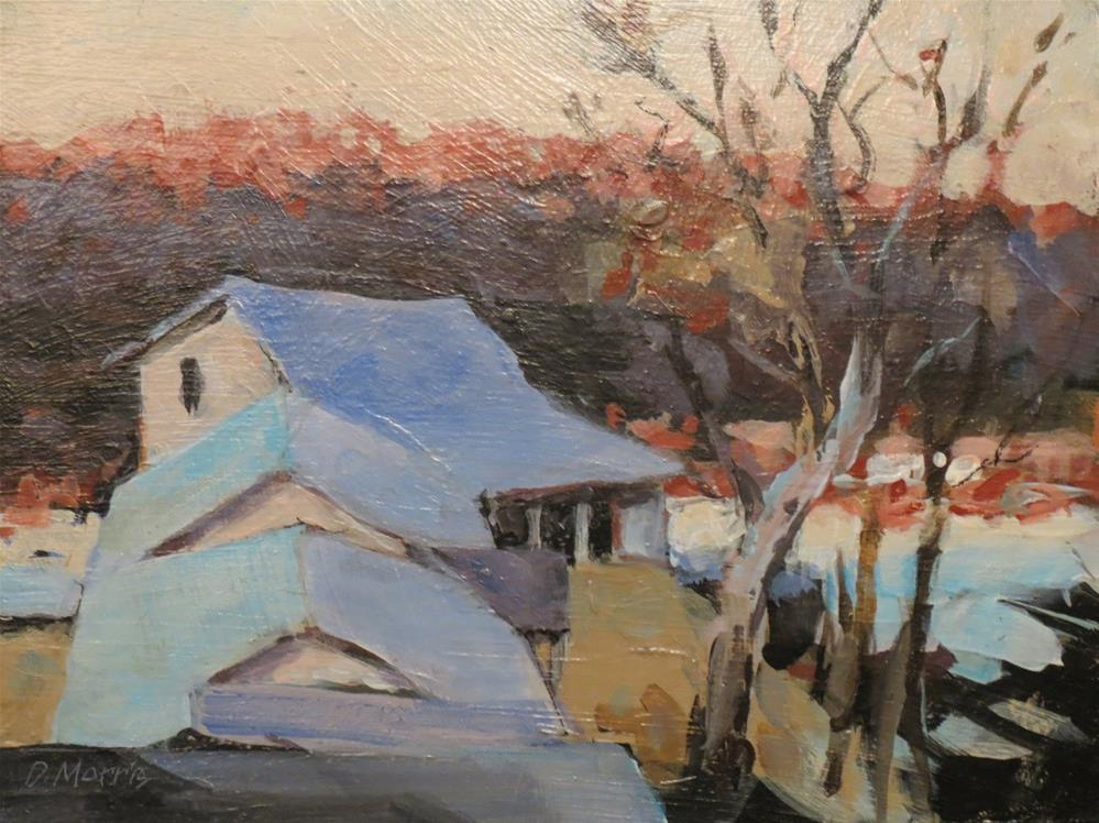"""Ozark Winter Morning"" original fine art by Dann Morris"