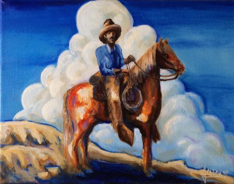 """Blue sky"" original fine art by Jolynn Clemens"