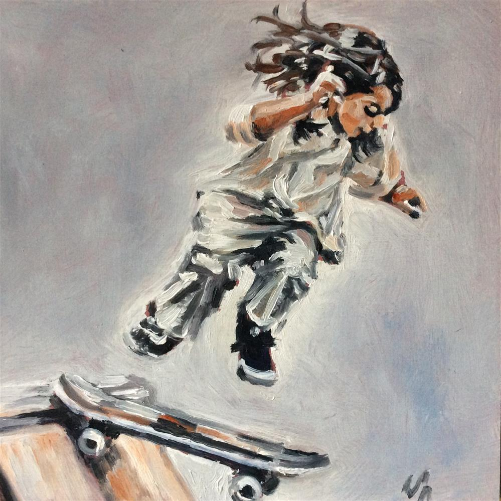 """Little Skater"" original fine art by Sonja Neumann"