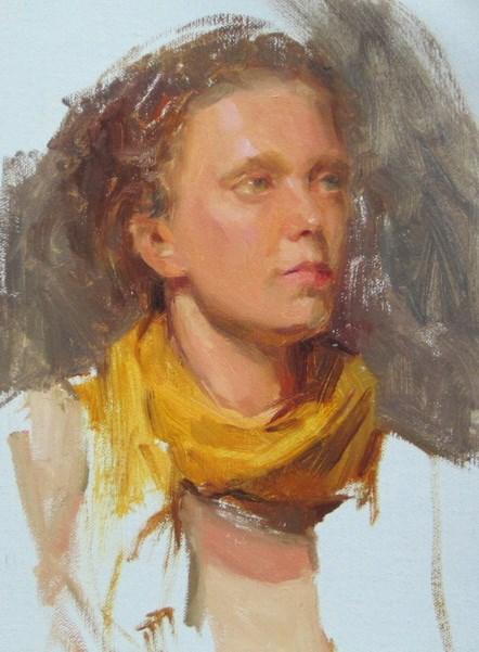 """Model_2"" original fine art by Taisia Kuklina"