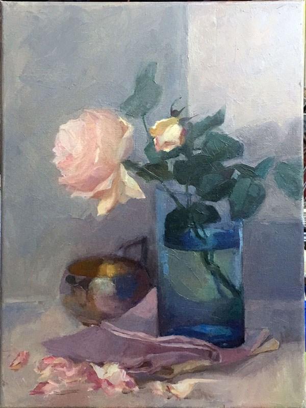 """Rose from Mr Gazzard"" original fine art by Myriam Kin-Yee"