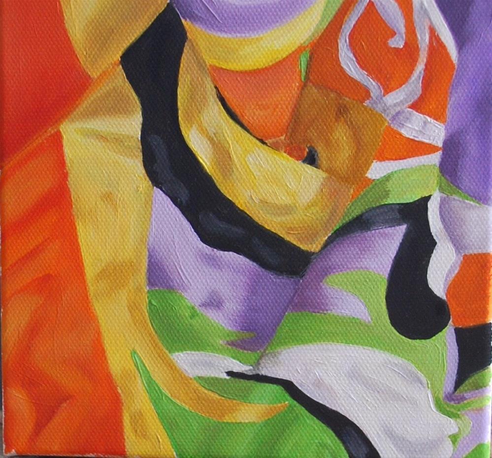 """Fabric challenge"" original fine art by Beverley Phillips"
